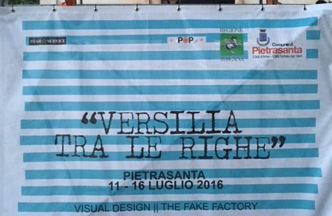 The Fake Factory: il visual a righe che colora la Versilia